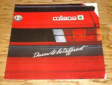 Original 1988 Alfa Romeo Milano Deluxe Sales Brochure 88 Gold Platinum