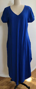 Ekouaer Sleepwear Women Casual Long Nightgown/Shirt/Dress V-Neck Short Sleeve XL