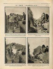 Poilus Soldats Tranchée Crapouillaud Petit Mortier Bombes Artillerie 1915 WWI