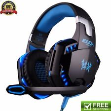 UK EACH Gaming Headphones Headset Earphone Headband with Mic for PC Gamer Laptop