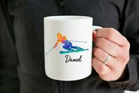 Personalized Skier Coffee Mug Cup Skiing Mug Gifts Skiing Gift Idea Custom Skier