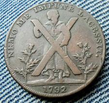 EDINBURGH HALFPENNY TOKEN 1792