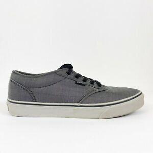 Vans Atwood Men's Sz 9.5 Gray Skater Sneakers TB4R Canvas Skateboarding Low