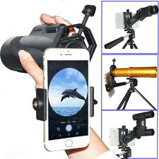 Metal Mount Cell Phone Holder Binocular Spotting Scope Telescope Adapter