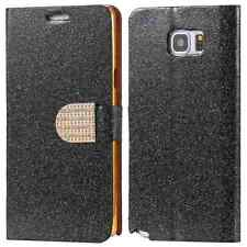 Flip Stand Card Slot Wallet Cover Glitter Case for Samsung S3 4 5 Note 3 4 5
