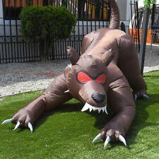 ALEKO Outdoor Halloween Inflatable Yard Decoration Haunted Dog Hound 6.5 Foot