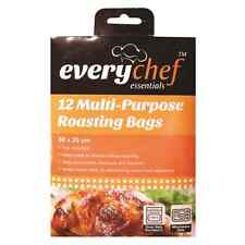 12 ROASTING BAGS FOR COOKING MEAT VEGETABLES IN OVEN OR MICROWAVE 25 x 38cm OTL