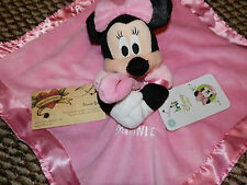 DISNEY SECURITY BLANKET MINNIE MOUSE SNUGGLE CRINKLE PUFF SLEEVES PINK GIRL NEW