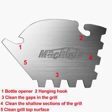 BBQ Tool Scraper Grill Cleaning 5 in 1 multi Steam Cleaner bottle opener Steel