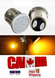 2x 1157 BAY15D Amber Yellow LED COB Led Car Tail Turn Signal Blinker Lights DRL