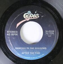 Rock 45 After The Fire - Dancing In The Shadows / Der Kommissar On Epic