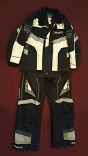 FXR Factory Racing 2 Piece Snowmoblie Suit Womens Medium Black gray white