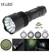 SecurityIng Super Bright 15x T6 LED 5000Lumens Waterproof Flashlight Torch