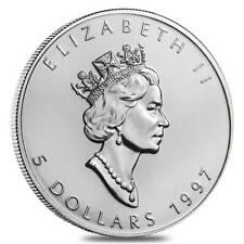 1997 Canada Silver Maple Leaf $5 1 Oz. .9999 - Brilliant Uncirculated! KEY Date