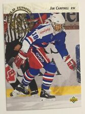 JIM CAMPBELL 1992-93 Upper Deck # 605 World Junior Championship Rookie RC USA