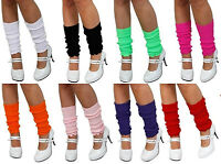 Ladies Girls Teen 80's Dance Plain Ribbed Leg Warmers Legwarmers 13 Colours Tutu