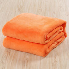 50*70CM Solid Coral Fleece Blanket Flannel Carpet Small Super Soft Kids Blanket