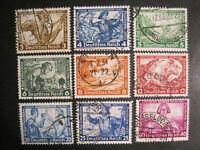 Deutsches Reich MiNr. 499-507 gestempelt (Z 907)