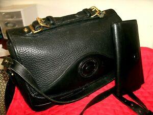 Dooney & Bourke Vintage Medium Black Pebbled Leather Crossbody w/Wallet EUC!