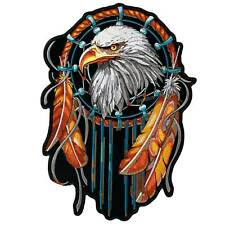 """Eagle Dream Catcher Patch 12"""" Motorcycle Motorbike Biker Colourfast Embroidered"""