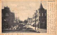 Postcard Street Car Trolley on Lockhart Street in Sayre, Pennsylvania~110297