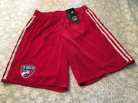 ADIDAS MLS FC Dallas 2012 Match Issue Home Red/White Soccer Shorts Men Sz  L NEW