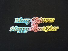 Merry Christmas & Happy New Year Cake Topper Plaque - Brand NEW - Free Postage