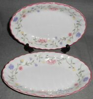 "Set (2) Johnson Brothers SUMMER CHINTZ PATTERN 8"" Relish Dishes ENGLAND"