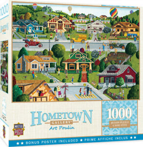 Masterpieces 1000 Piece Jigsaw Puzzle Hometown Gallery: Bungalowville Damaged 1