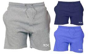 RDK Mens Fleece Sweat Shorts Elasticated Waist Gym Running Cotton Jogging Pants