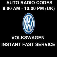 VW Volkswagen Radio Code Audio Sat Nav Security Code Unlock Service