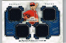 GIO GONZALEZ 2014 TOPPS MUSEUM COLLECTION 4 PIECE JERSEY # 22/99 NATIONALS