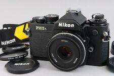【TOP MINT】Nikon FM3A Black 35mm SLR Camra + AIS 45mm F2.8 P From Japan #1558