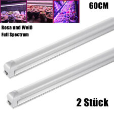 2X T8 60CM  LED Grow Light Pflanzenlampe Full Spectrum Gemüse Pflanzen Licht