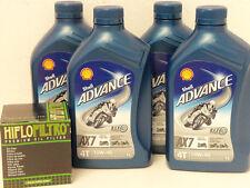 Shell Advance AX7 4T 10W-40 teilsyn / Ölfilter Yamaha YZF-R1 Bj 07 - 13