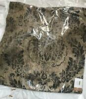 Pottery Barn Ceana Pillow Cover Charcoal 22 sq Medallion Print