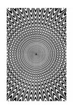 Trippy Electric Vibes Op Art Tapestry Table Cloth Wall Art Curtain 52x80