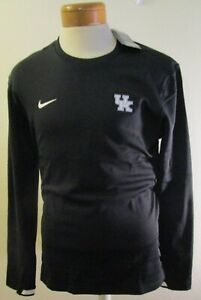 NWT Nike Kentucky Wildcats Mens L/S Coaches Sideline Pullover XL Black MSRP$75