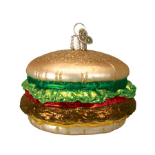 """Cheeseburger"" (32065)X Old World Christmas Glass Ornament w/OWC Box"
