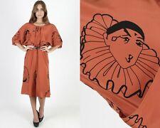 Vintage 80s Hollys Harp Dress Mime Clown Avant Garde Silk Draped Pockets Mini