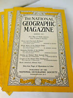 National Geographic Magazine - Lot of 10 Issues Mar-Dec 1952 Coke Coca Cola Ads