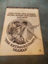 THE EXTRAORDINARY SEAMAN(1969)DAVID NIVEN ORIGINAL PRESSBOOK