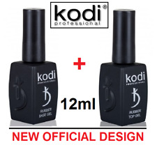 2 pcs! sale 8%! 12ml. Kodi Professional - Gel LED/UV Rubber TOP + Rubber Base