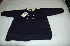 NWT Le Chicche Navy Wool Knit Coat Sweater 18 months $ 151.98  Made in Italy