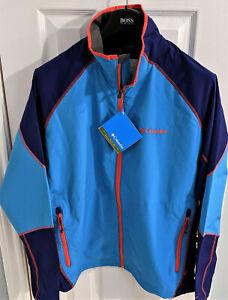 "NEW COLUMBIA Men's ""Sweet As"" Softshell Jacket XL Omni-Shield Navy Blue Red NWT"