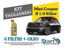Kit Tagliando Olio Castrol + Filtri Tecneco Mini Cooper II 1.6 Diesel 82KW