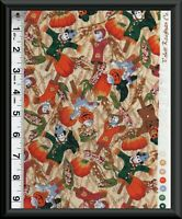 FABRIC FALL HARVEST Holiday BY ROBERT KAUFMAN CO. 100% COTTON Quilt By 1/2 YD