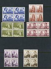 Australia Navigators High Values Scott#374/79 Set Of Blocks Mint Hinged Full Og