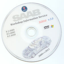 Saab 9.3 - 9.5 wis workshop service manual , repair guide , 1998 >>> 2011