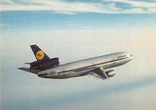Lufthansa DC 10 in Flight Vintage Postcard (J31882)